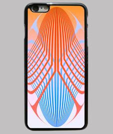 Ellipses bleue et orange claires - Iphone