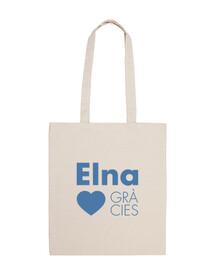 Elna Elne Gràcies - Totebag 100% cotó blau