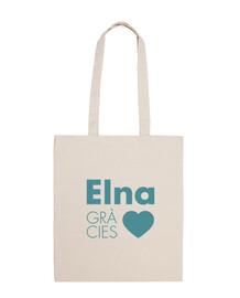 Elna Elne Gràcies - Totebag 100% cotó verd