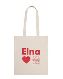 Elna Elne Gràcies - Totebag 100% cotó vermell