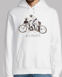 Els 4 Gats - Hombre, jersey con capucha, blanco