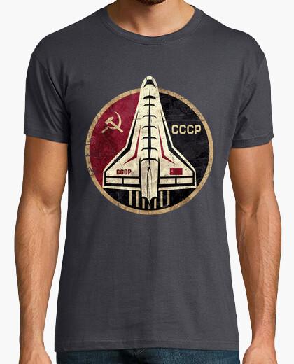 Tee-shirt emblème circulaire navette spatiale cccp