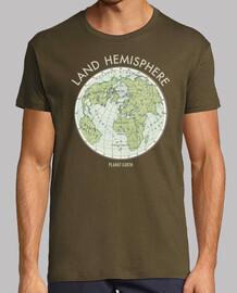 emblème vintage de la terre hémisphère