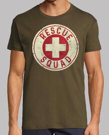 emblème vintage équipe de sauvetage
