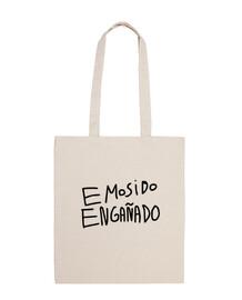 EMOSIDO ENGAÑADO Bolsa tela 100% algodón
