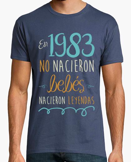 Camiseta En 1983 No Nacieron Bebés, Nacieron Leyendas, 37 años