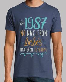 En 1987 No Nacieron Bebés, Nacieron Leyendas, 33 años