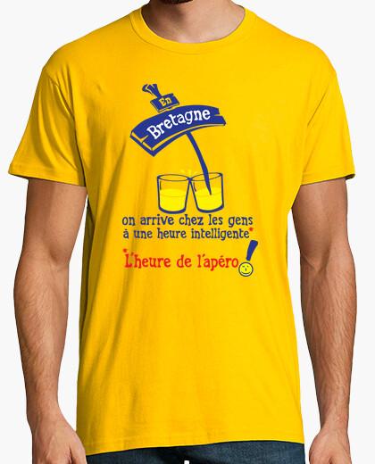 Tee-shirt en Bretagne heure apero humour alcool
