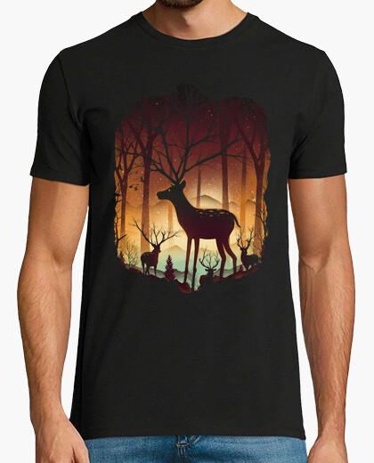 Camiseta en el bosque de los ciervos