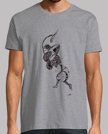 en el camino a la luna. camisa del hombre