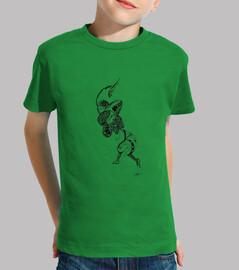 en el camino a la luna. camiseta de niño