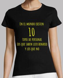 En el mundo existen  10  tipos de person