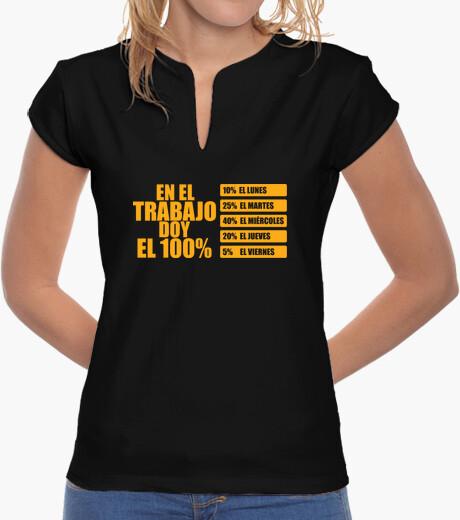 Camiseta En el trabajo doy el 100%