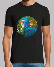 en la camisa tóxica de la selva para hombre