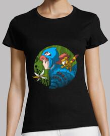 en la camisa tóxica de la selva para mujer