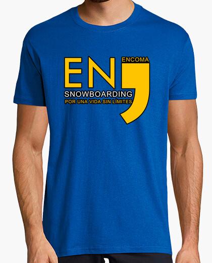 Camiseta EnComa Snowboarding Clásica Unisex Azul