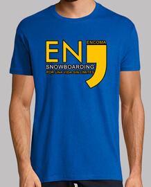 EnComa Snowboarding Clásica Unisex Azul