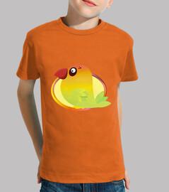 enfant agaporni, manches courtes, orange