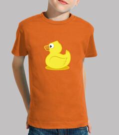 enfant de canard en caoutchouc, manches courtes, orange