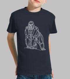 enfants de gorille géométriques