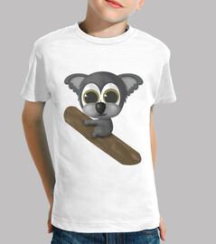 enfants une  tee shirt  koala