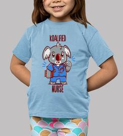 enfermera koalified - juego de palabras con animales koala - camisa de niños