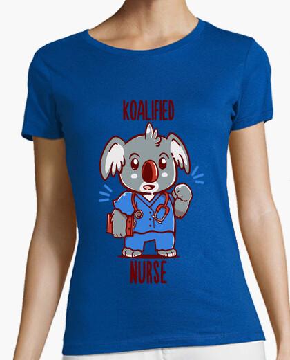 Camiseta enfermera koalified - koala animal pun - camisa de mujer