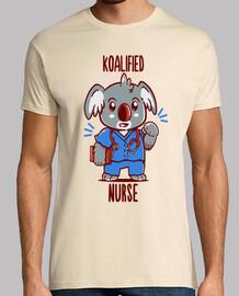 enfermera koalified - koala animal pun - camiseta para hombre