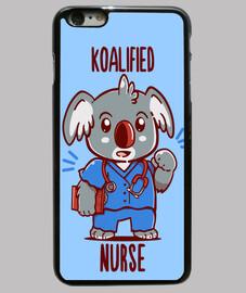 enfermera koalified - koala animal pun - funda del teléfono