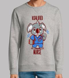 enfermera koalified - koala animal pun - sudadera para hombre