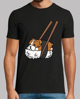 Englisch Bulldogge Hund Sushi