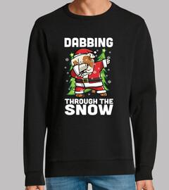 Englisch Bulldogge Hund tupfen Weihnach