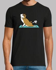 Englisch Bulldogge Hund Yoga