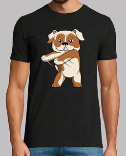 Englisch Bulldogge Hund Zahnseide