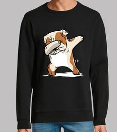 englische Bulldogge tupfen Hund!
