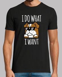 Englischer Bulldoggenhund Ich mamache w