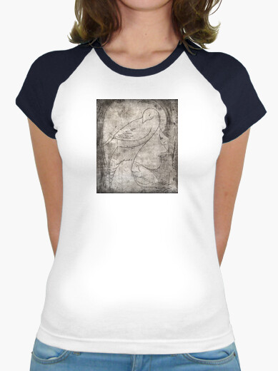 Engraving of a girl t-shirt