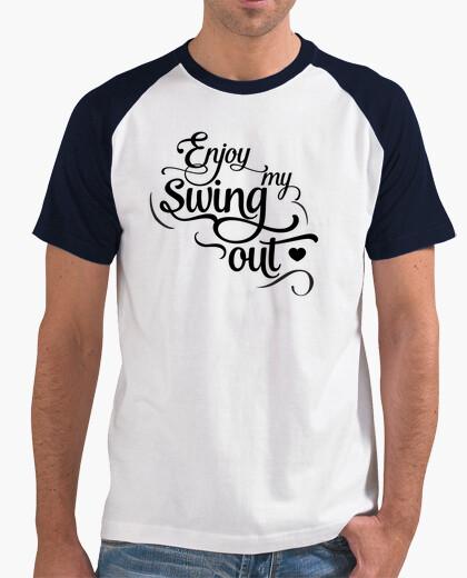 Camiseta Enjoy my swing out simple - black