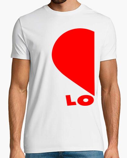 Tee-shirt ensemble x2 couples demi coeurs