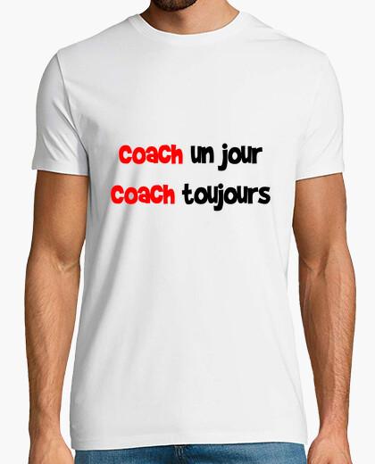 Camiseta entrenador un día entrenador siempre