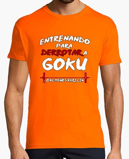 Camiseta Entrenando Goku - Chico Colores
