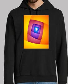 ENTRY Arte Abstracto Hombre, jersey con capucha, negro