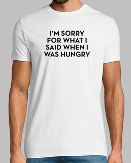 Entschuldigung hungriges Schwarz