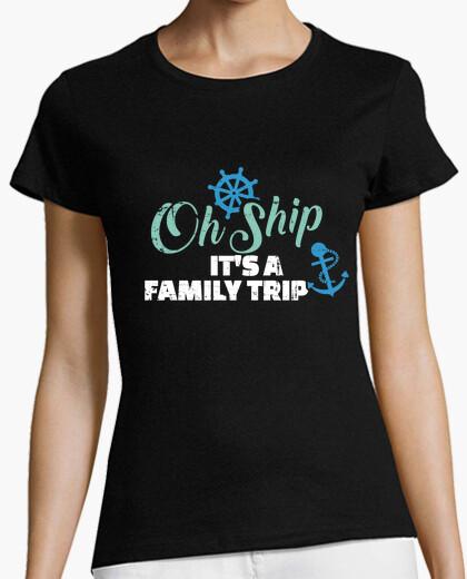 Camiseta enviarlo es un crucero de viaje familia