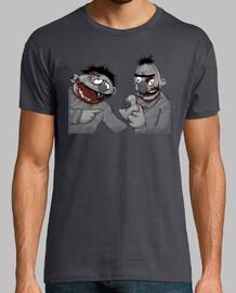 Epi y Blas Zombie TV teleñecos Zombi  camisetas friki