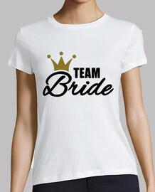 équipe couronne de la mariée