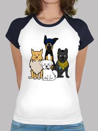 équipe de chiens série à chemise femme