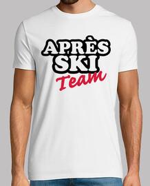 équipe de ski apres