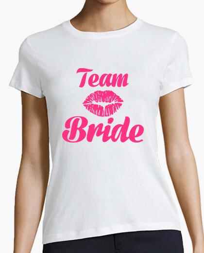 Tee-shirt équipe mariée baiser