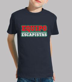 Equipo Escapistas Camiseta para niño
